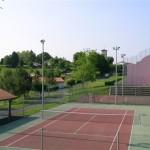 Les courts de tennis