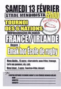FRANCE-IRLANDE 13-2-16