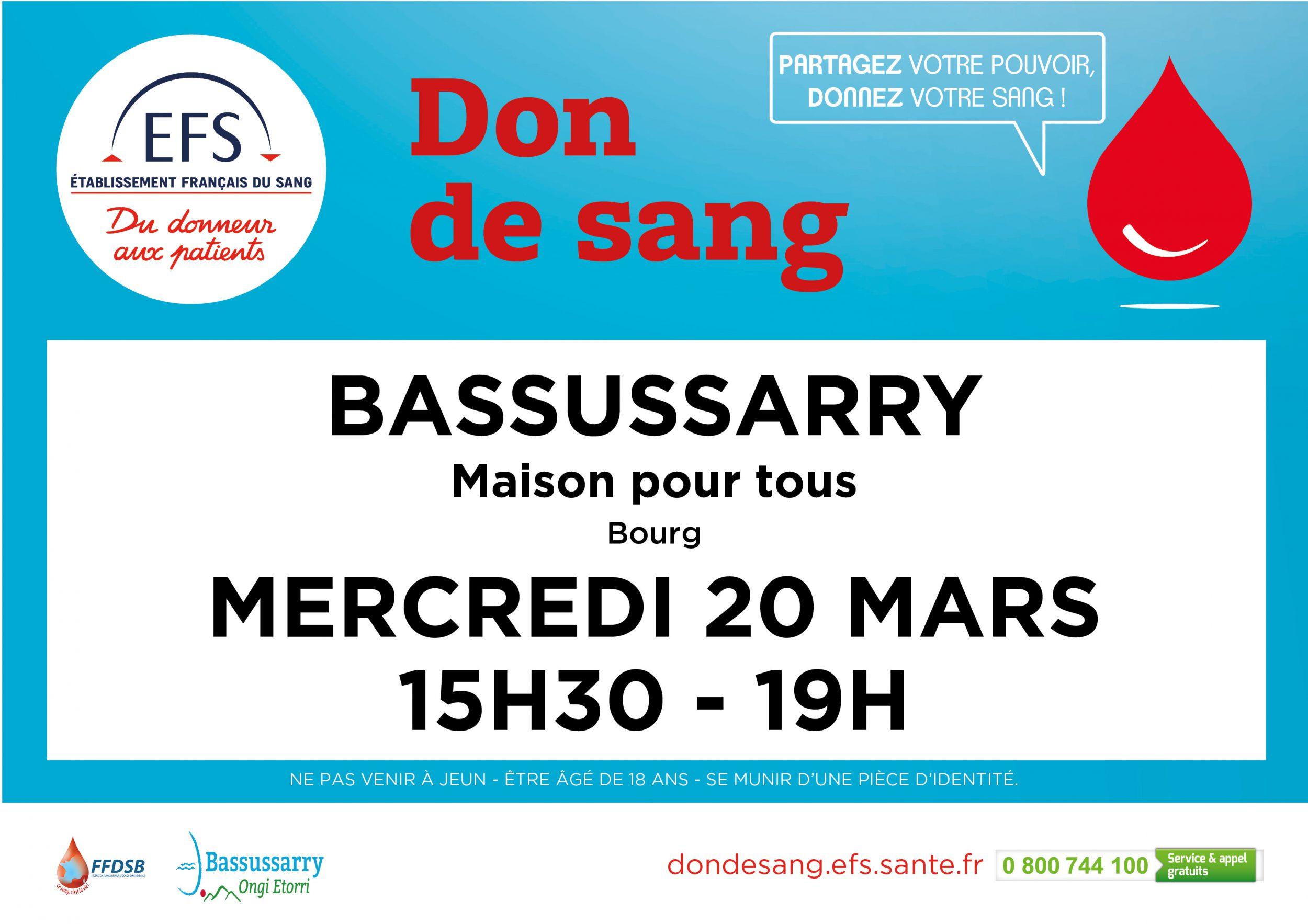 Don de sang 20.03.2019
